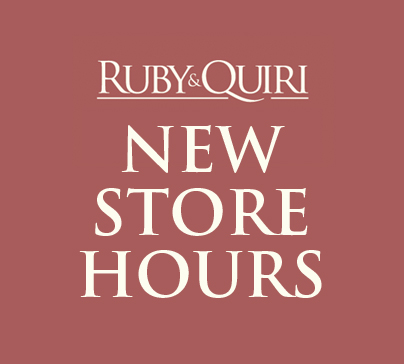 Ruby & Quiri New Store Hours
