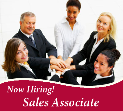 Now Hiring Sales Associate! April 6th, 2012 · 2 Comments  Sales Associate