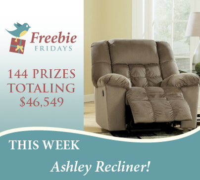 Freebie Fridays Ashley Recliner Ruby Amp Quiri Blog